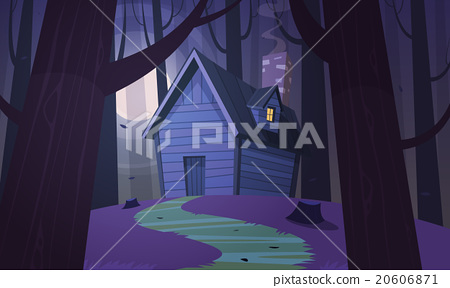 Cabin in Woods - Night 20606871