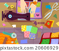 Hands Sewing Machine Quilt 20606929