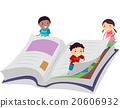 Stickman Kid Book Page Turn 20606932