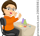 Senior Woman Sewing Hobby 20606981