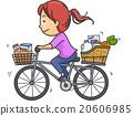bike girl grocery 20606985