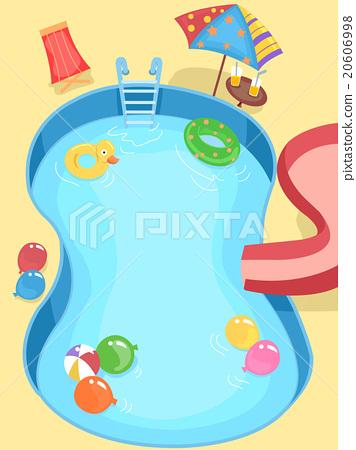 Stock Illustration: Kids Birthday Pool Party