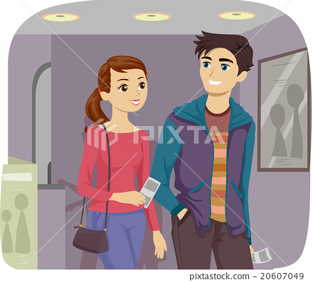 Young Couple Movie Date 20607049