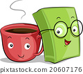Coffee Cup Book Mascots 20607176