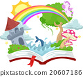 Book Open Story Book Fantasy Kingdom 20607186