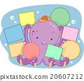 Cute Octopus Blank Signs 20607212
