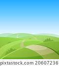 vector, landscape, road 20607236
