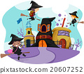 Whimsical Stickman Kids Wizard School 20607252