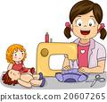 Kid Girl Hobby Doll Dress Sewing Machine 20607265
