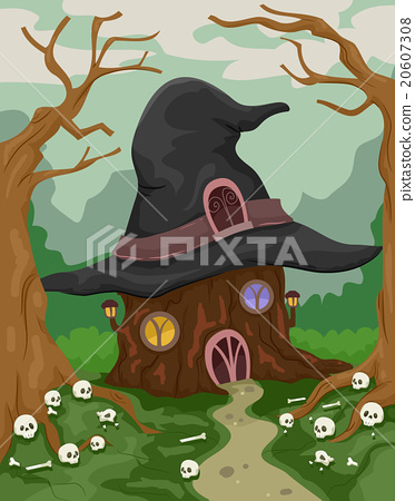 Halloween Witch House Woods 20607308
