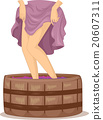 Woman Legs Wine Making 20607311