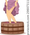 Woman Legs Wine Making 20607311