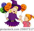 Kids Girls Witch Halloween Balloons 20607317