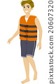 Teen Guy Life Vest Swimming 20607320