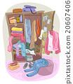 Full Closet Clutter 20607406