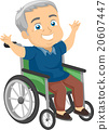 Happy Senior Man Wheel Chair 20607447