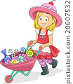 Kid Girl Candies Cart Wheelbarrow 20607532