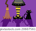 Witch Feet Broom Cat Shadows 20607561