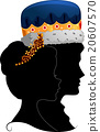Couple King Queen Silhouette Profile 20607570
