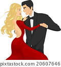 Couple Ballroom Dancing Locking Eyes 20607646