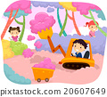 Stickman Kids Cotton Candy Harvest Bulldozer 20607649