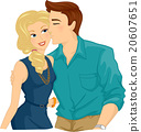 Romantic Couple Kiss Cheek 20607651