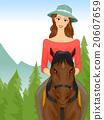 Travel Girl Horseback Riding Tour 20607659