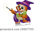 Owl Mascot Witch Magic 20607705