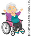Happy Senior Woman Wheel Chair 20607735