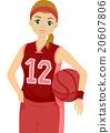 Teen Girl Basketball Player Jersey Pose 20607806