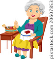 Senior Woman Sewing Embroidery Hobby 20607853