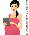 Girl Pregnant Browse Tablet 20607879