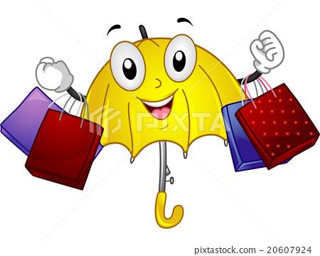 Mascot Shopping Umbrella Rainy Day Bags 20607924