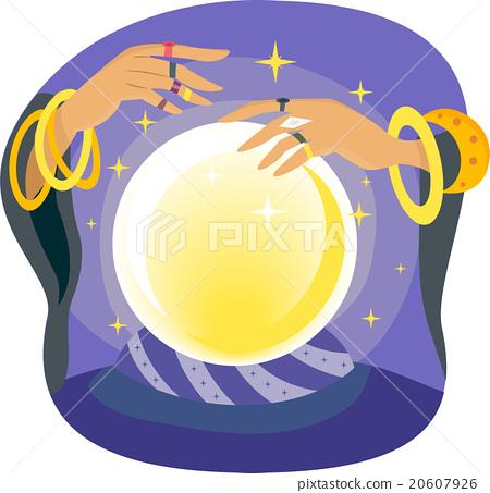 Gypsy Hand Crystal Ball Manipulate 20607926