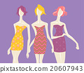 Fashion Mannequin Model Girl Textile Prints 20607943