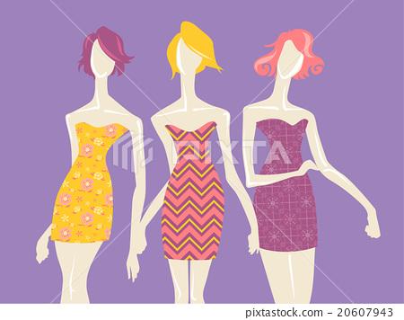 Fashion Mannequin Model Girl Textile Prints 20607943