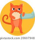 Cat Bite Hand 20607948