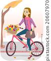 Teen Girl Bike Basket Flowers 20607970