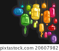 Lanterns Colors Black Background 20607982