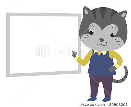 Cat Teacher White Board Point 20608001