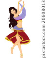 Girl Belly Dancing Performance 20608013