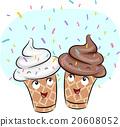 Mascot Ice Cream Sprinkles Scattered 20608052