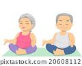 Senior Citizen Couple Yoga 20608112