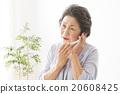 인물 스마트 폰에서 통화 수석 여성 20608425