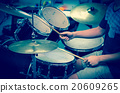 Drummer in the studio, music concept 20609265