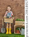 girl, caucasian, gardening 20618057