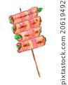 日式烤雞串 雞肉烤串 烤雞肉 20619492