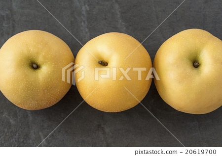 Stock Photo: pear, japanese pear, 20th century asian pear