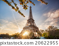 Eiffel Tower with spring tree in Paris, France 20622955