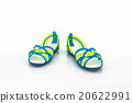 Colorful of Sandals shoes / flip flops. 20622991